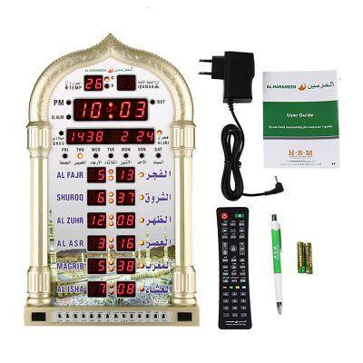 49 98 Islamic Mosque Azan Wall Clock Set Calendar Muslim Prayer Ramadan With Adapter Muslim Prayer Wall Clock Clock