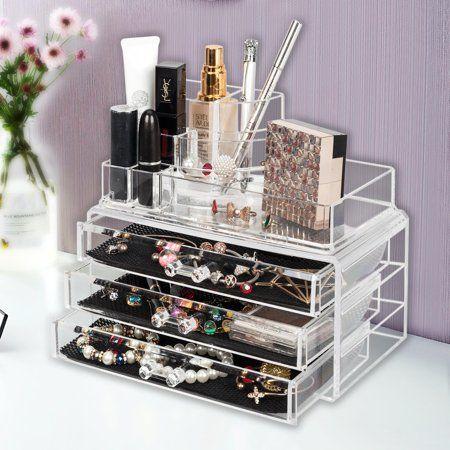 Ktaxon Acrylic Makeup Case Cosmetic Home Organizer Drawers Holder Jewelry Storage Box Walmart Com Makeup Case Professional Makeup Case Makeup Case Organization