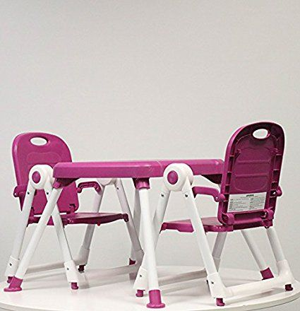 Zoe Best Foldable Toddler Table Chair Set For Kids Art Playtime Plum Toddler Table Table And Chairs Kids Chairs