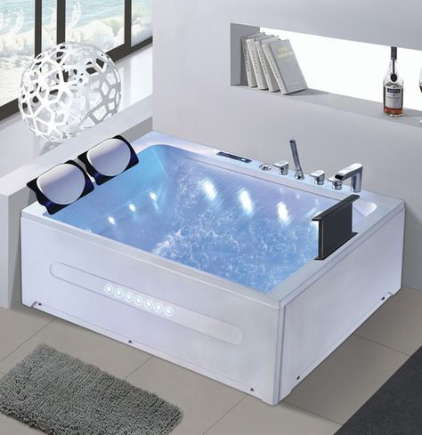 Two Person Jacuzzi With Tv Dvd Big Waterfall Control Panel Bathroom Design Bathtub Design Big Bathtub