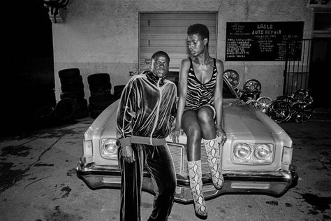 Daniel Kaluuya and Jodie Turner-Smith on the set of 'Queen & Slim'