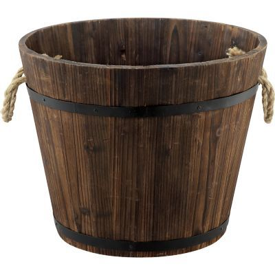 Find Red Shed Whiskey Barrel Planter In The Outdoor Decor Category At Tractor Supply Co There S No Better Whiskey Barrel Planter Barrel Planter Whiskey Barrel