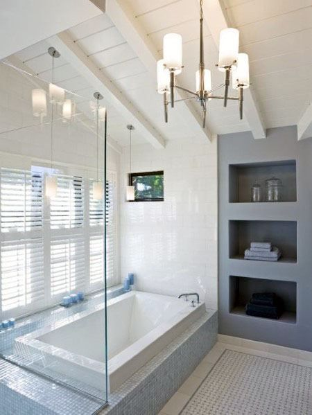 Top 70 Best Vaulted Ceiling Ideas High Vertical Space Designs Modern Bathroom Design Master Bathroom Design Contemporary Master Bathroom