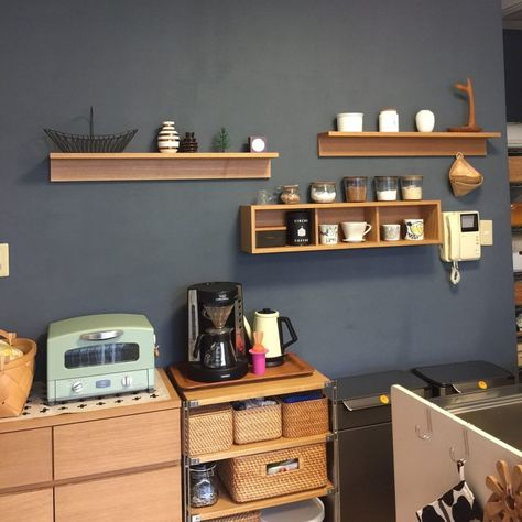 センスの良い配置や使い方に注目 無印良品 壁に付けられる家具 箱 の実用例 無印 キッチン 無印キッチン収納 無印良品 収納 キッチン