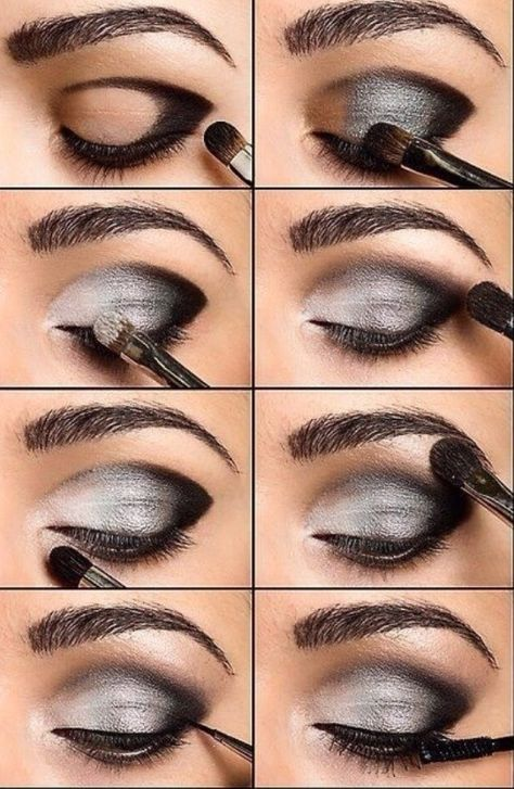 make up guide Eye Make up Ideas Get the latest Eye Make up How Tos, Eye Makeup Tips and Tricks only at StyleCraze. make up glitter;make up brushes guide;make up samples; Love Makeup, Beauty Makeup, Makeup Ideas, Makeup Hacks, Perfect Makeup, Hair Beauty, Makeup Trends, Gorgeous Makeup, Grey Eye Makeup