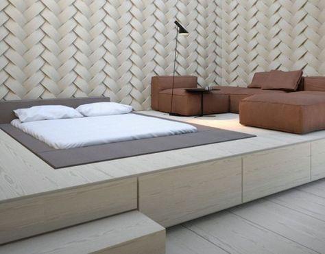 Tischler kontaktieren für Podest im Schlafzimmer Stauraumwunder