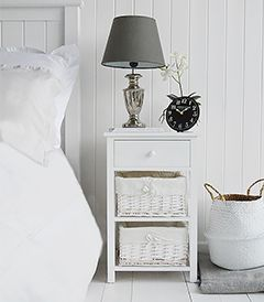The White Lighthouse Furniture Bedside Tables L White L Narrow White Bedside Table Bedroom Furniture Uk Storage Furniture Bedroom