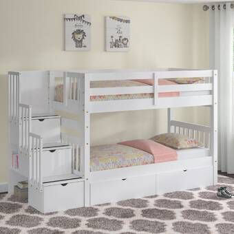 Tena Full Over Full Bunk Bed With Drawers Bunk Beds With Storage Bed For Girls Room Bunk Beds With Drawers