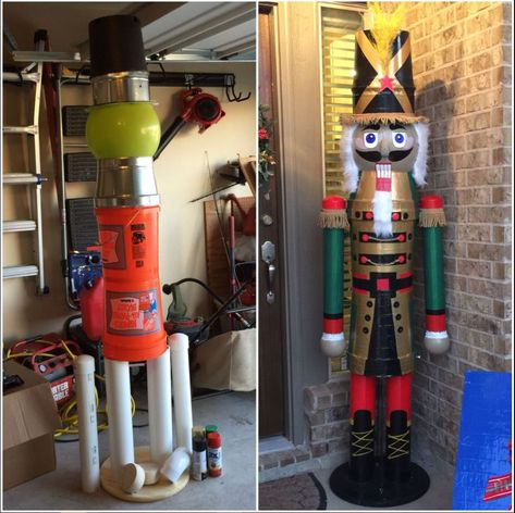 Easy To Make Outdoor Christmas Decorations On A Budget - Nutcracker Soldier - Page 2 of 31 - Easy Hairstyles Gingerbread Christmas Decor, Outside Christmas Decorations, Nutcracker Christmas Decorations, Diy Outdoor Decorations, Nutcracker Crafts, Wedding Decoration, Christmas Projects, Christmas Home, Christmas Lights