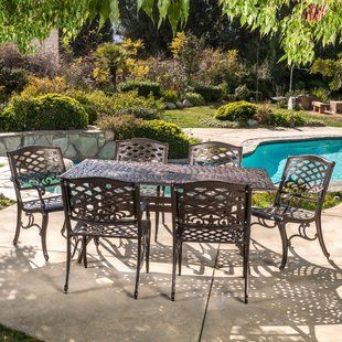 Use Of Cast Aluminum Patio Furniture Yonohomedesign Com In 2020 Outdoor Dining Set Outdoor Patio Dining Set