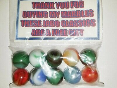 Ad Set Of 10 Jabo Marbles Signed By Jim King New In Bag Jim King Tobago Turks And Caicos Islands