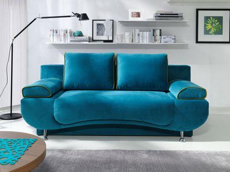 Details zu SOFA Couch mit Schlaffunktion Polstergarnitur