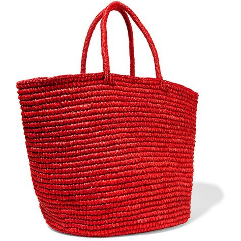 Sensi Studio Maxi woven toquilla straw tote (755 BRL) ❤ liked on Polyvore featuring bags, handbags, tote bags, straw tote, handbag tote, red tote bag, woven tote bags and straw beach tote