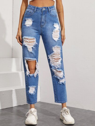 Jeans The Denim Shop Shein Usa Pantalones De Moda Pantalones De Moda Mujer Moda De Ropa