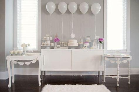 white wedding party