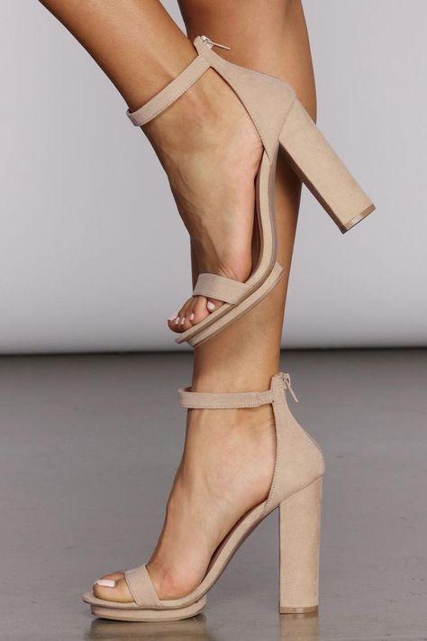 High Heels Summer Women Sheos t strap heels brown heels – ddshoop Black Lace Up Heels, Black Leather Shoes, Nude Heels, Leather Sandals, Peach Heels, Black Prom Shoes, Green Heels, Sexy Heels, Black Suede