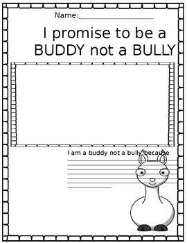 Llama Llama And The Bully Goat Bullying Writing Worksheets Writing
