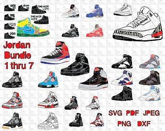 J1 Sneaker Pattern Template Jordan 1