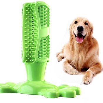 Dog Toothbrush Stick Puppy Dental Care Brushing Stick Dog Chew