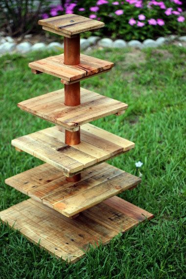 Rustic Cupcake Stand. 6 Tier. by BoldDisplays on Etsy, $120.00