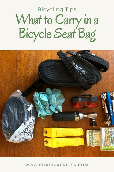 What should you carry with you in your bicycle seat bag? accessories What to Carry in a Bicycle Seat Bag - Road Bike Rider Cycling Tips, Cycling Art, Road Cycling, Carb Cycling, Cycling Quotes, Cycling Jerseys, Cycling Workout, Cycling For Beginners, Bike Workouts