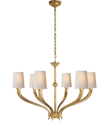 Visual Comfort Chc2462ab Np E F Chapman Ruhlmann 6 Light 35 Inch Antique Burnished Brass Chandelier Ceiling Light In 2020 Visual Comfort Chandelier Visual Comfort Outdoor Ceiling Lights