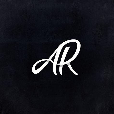 Monogram Logo, AR logo, Script logo, Logomark, Logotype, Calligraphy