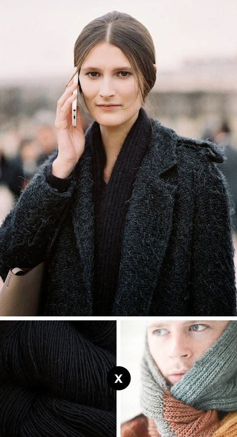 Knit the Look: Marie Piovesan's luscious scarf .... and check out the details for Stephen West's Brioche rib cowl / or scarf!!