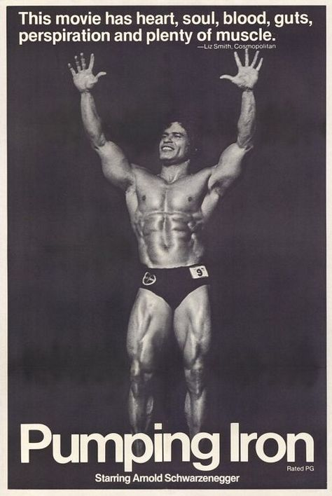 """""""Pumping Iron,"""" classic #bodybuilding movie from 1977"""