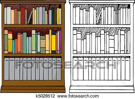 Related Image Clip Art Clipart Black And White Bookshelf Art