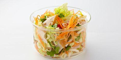 Salade thai de poulet au chou chinois