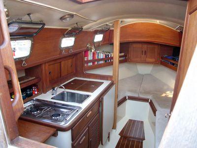 compact kitchen in smaller yacht - Boat Interior Design Ideas