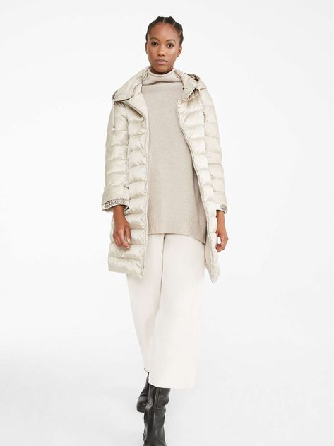 "Reversible down jacket in water-resistant satin, dove grey -  ""NOVECA"" Max Mara"