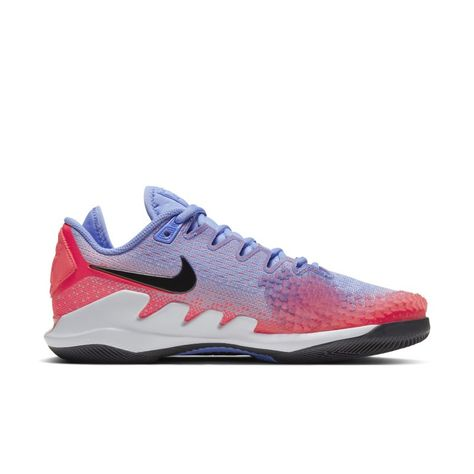 Nikecourt Air Zoom Vapor X Knit Women S Hard Court Tennis Shoe Blue In 2020 With Images Blue Shoes Tennis Shoes Air Zoom
