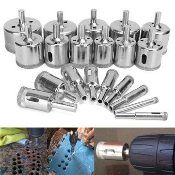20pcs 6 50mm Diamond Drill Bits Hole Saw Set For Glass Ceramic Marble Drill Bits Glass Ceramic Hole Saw