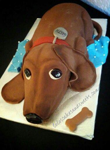 Dachshund Themed Cake Ideas Dog Themed Cake Ideas Dachshund Dog