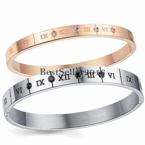Armband Klassiker Römische Zahlen Ziffern Freundschaftsarmband Zirkonia Armreif