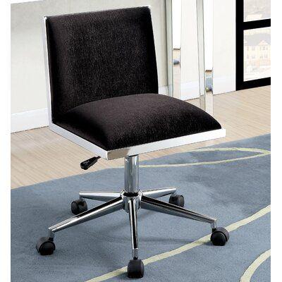 Wrought Studio Sedillo Task Chair Color Black In 2019