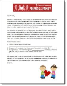 Free customizable donorschoose letter to parents to send home free customizable donorschoose letter to parents to send home during friends and family week explains about matching codes doubling donations pinterest spiritdancerdesigns Gallery