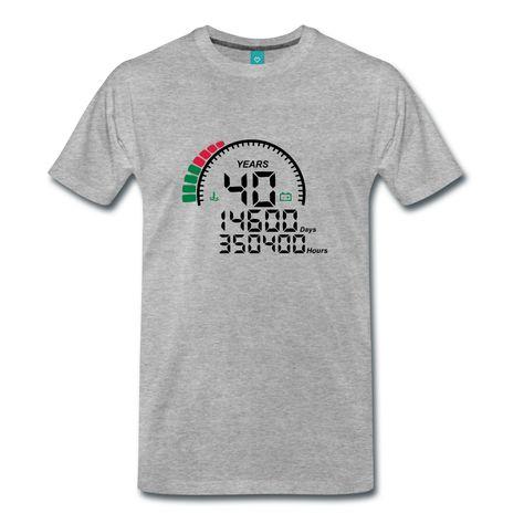 Tee shirt 40 ans le compteur   T shirt anniversaire - naissance 10 20 30 40  50 60 70 80 90 100 ans 70f8dbd2bc4