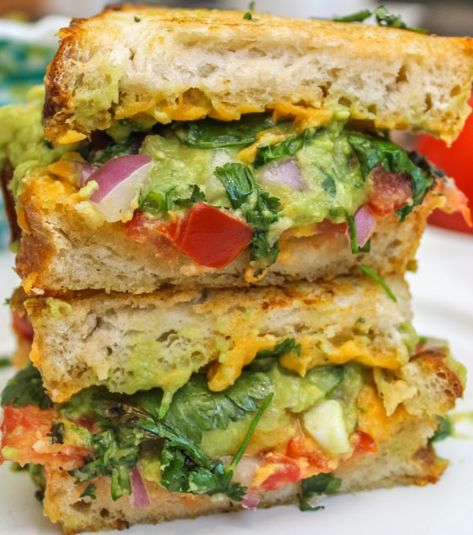 It's National Grilled Cheese Month but you know I ain't happy unless I've stuck an avocado in something so here we go!