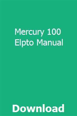 Mercury 100 Elpto Manual Manual Mercury Cloud Computing Services