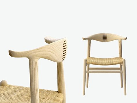 Sedie A Sdraio In Legno Imbottite.Sedia In Legno Pp505 The Cow Horn Chair By Pp Mobler Design Hans