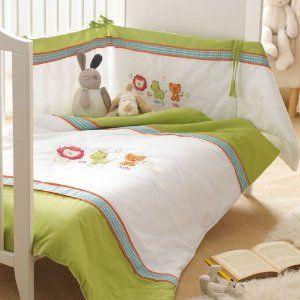 New Safari Friends 3 piece Cot Quilt Nursery Set: Amazon.co.uk: Kitchen  Home