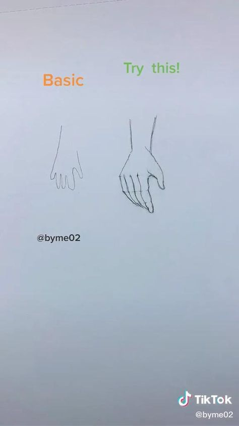 how to draw hands 🙌
