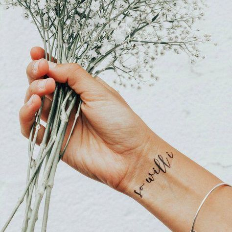 word wrist tattoo small #meaningfulwristtattooquote
