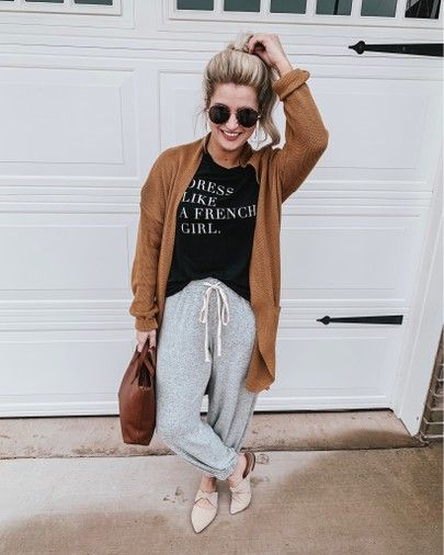 How To Dress Up Sweatpants Women S Gray Joggers