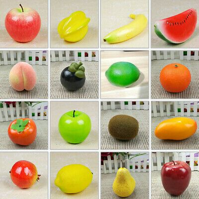 Lifelike Artificial Decorative Foam Fruit Kitchen Fake Display Home Decor Craft