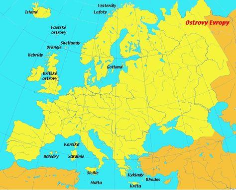 Vysledek Obrazku Pro Oceany A More Evropy Lofoty Mapy Sveta