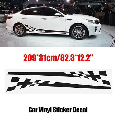 2pcs Car Side Body Vinyl Decal Sticker Racing Sports Long Stripe Decals Graphics Calcomania Para Auto Calcomanias Autos